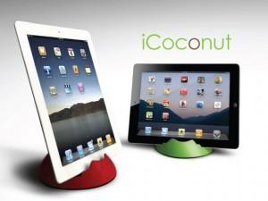 ココナッツから作られた世界初のiPadスタンド『iCoconut』