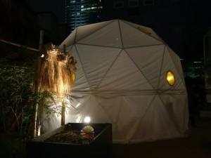 六本木農園の隣に設営されたテント