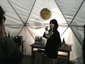 尾畑酒造の専務取締役・尾畑留美子さん
