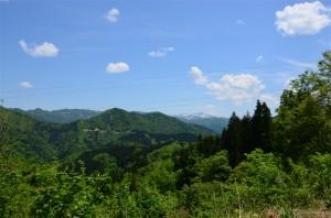 山の上の昼食場所