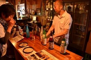 日本酒の試飲