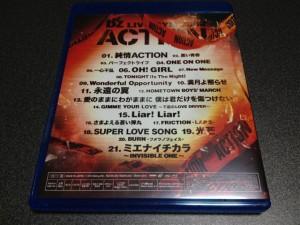 『B'z LIVE-GYM 2008 -ACTION-』のパッケージ裏面