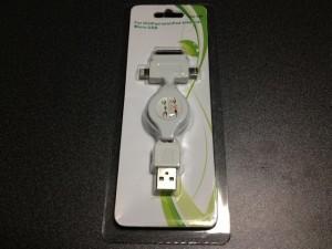 リール式伸縮USBケーブルのパッケージの表面