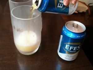 スターケバブ アキバ テラス店内でビールを注文する事も可能