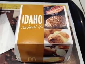 アイダホバーガーの箱