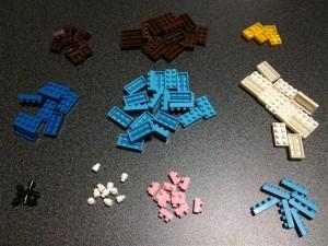 形や色ごとに分けてみたところ