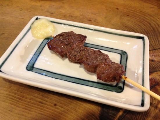 『牛串焼』200円