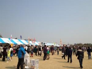 いばらきの県産品まつりのテント