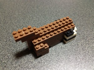 ナノブロックのオカピの首を作成
