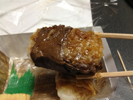 牛肉の肉巻おむすび