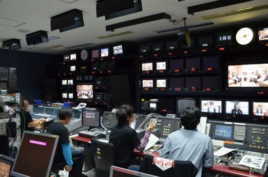 NHKの主調整室(マスターコントロールルーム)