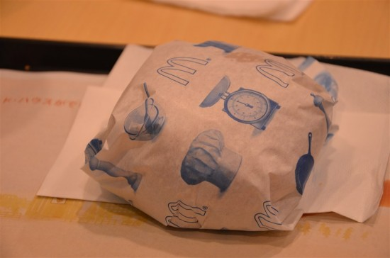 バーベキュービーフの包み紙