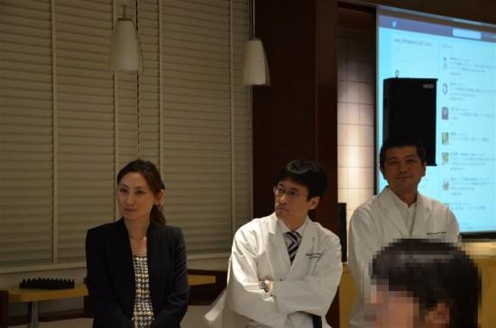左から順に、広報のヤマモトさん、開発担当のフキザワさん、コバヤシさん