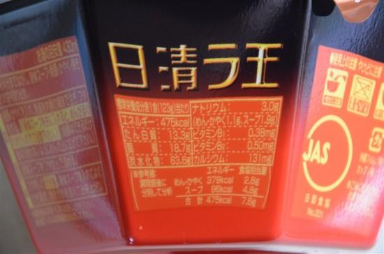 日清 焼豚ラ王 コク醤油のカロリー・栄養成分