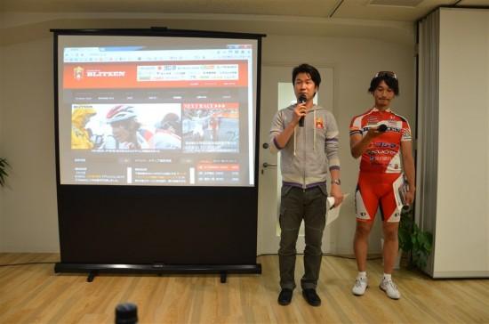 『宇都宮ブリッツェン』から今回は監督の栗村修さん(写真左)、ゼネラルマネージャーの廣瀬佳正さん(写真右)がきてくださいました