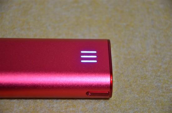 cheero Power Plus 2 miniの残量ランプ