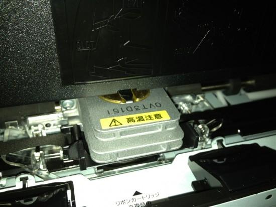 EPSON VP-F2000のプリンタヘッド部分