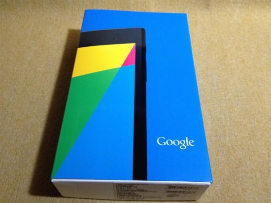 2013年版Nexus7本体パッケージ