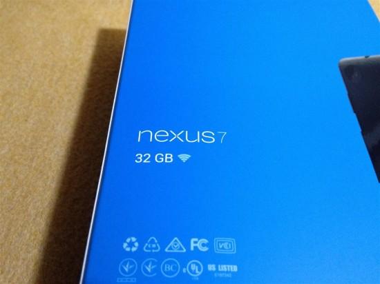 2013年版Nexus7・32GBモデル