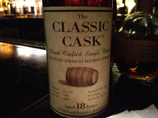 The CLASSIC CASK Aged 18 Years Vintage1981 750ml