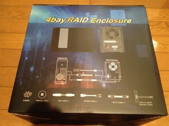 箱の裏面にはPCとの接続方法や内容物の記載など