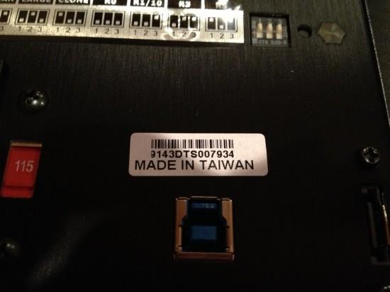 『DP-4043』本体は台湾で製造