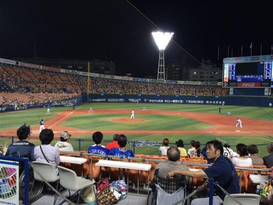 横浜の先発は須田幸太投手