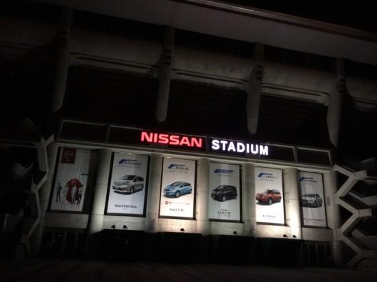 夜の日産スタジアム