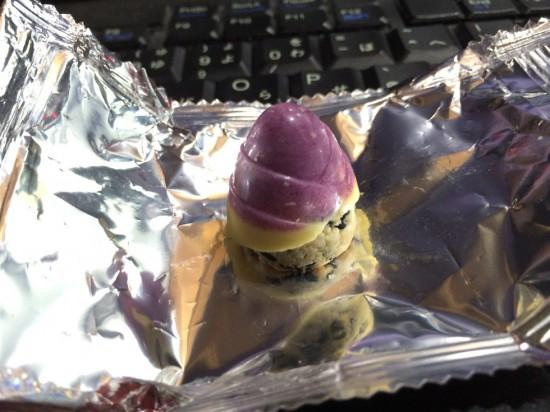 たけのこの里 紫いもを開けてみたところ