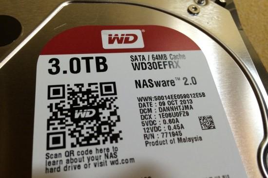 ウェスタンデジタルのNAS用HDD『WD Red』レビュー