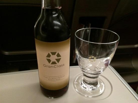 グランクラスの赤ワイン