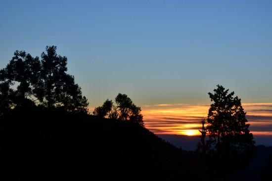 御嶽山からの朝焼け