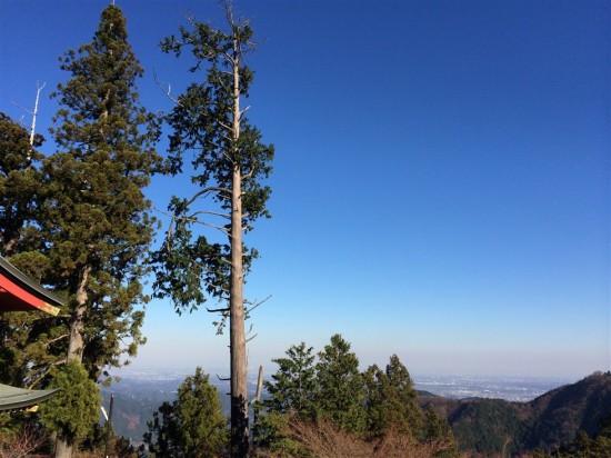 頂上からさらに階段を登って『武蔵御嶽神社』へ