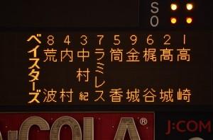 横浜ベイスターズのスターティングメンバー