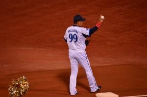 一塁を守る中村紀洋選手
