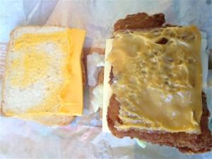 ビックチキンリッチチーズを開けてみたところ