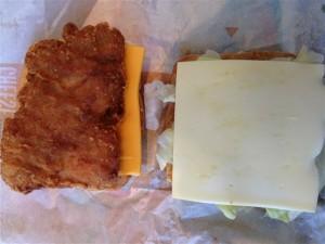 ビックチキンリッチチーズのチキンとゴーダチーズ