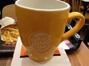 オレンジ色のバーガーキングオリジナルマグカップ