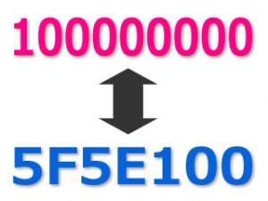 [PHP] 10進数を16進数に、16進数を10進数に変換する方法