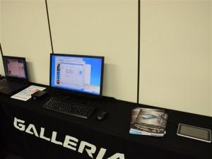 ノートPCや小型PC、タブレットPCの展示