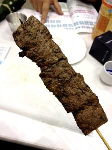 村上牛の串焼き