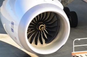 ジェットエンジンのアップ