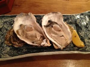 銀魚の生牡蠣
