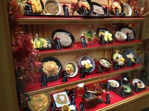 小諸そば キュービックプラザ新横浜店のサンプルディスプレイ