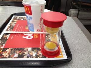 60秒を超えた場合はビッグマックなどのハンバーガー類と引き替えられる無料券が貰える